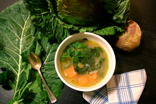 Black Eyed Pea Soup with Winter Veggies (photo by Heather Logan, Kailyard Kitchen)