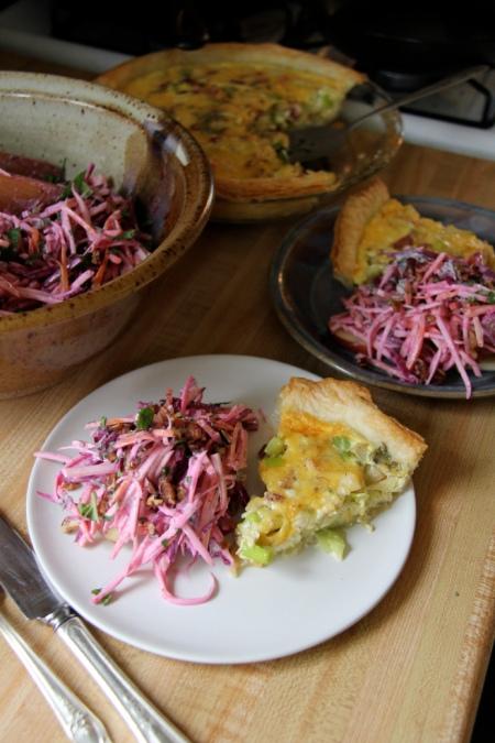 Apple & Leek Quiche with Root Veggie Salad (photo by Heather Logan, Kailyard Kitchen)
